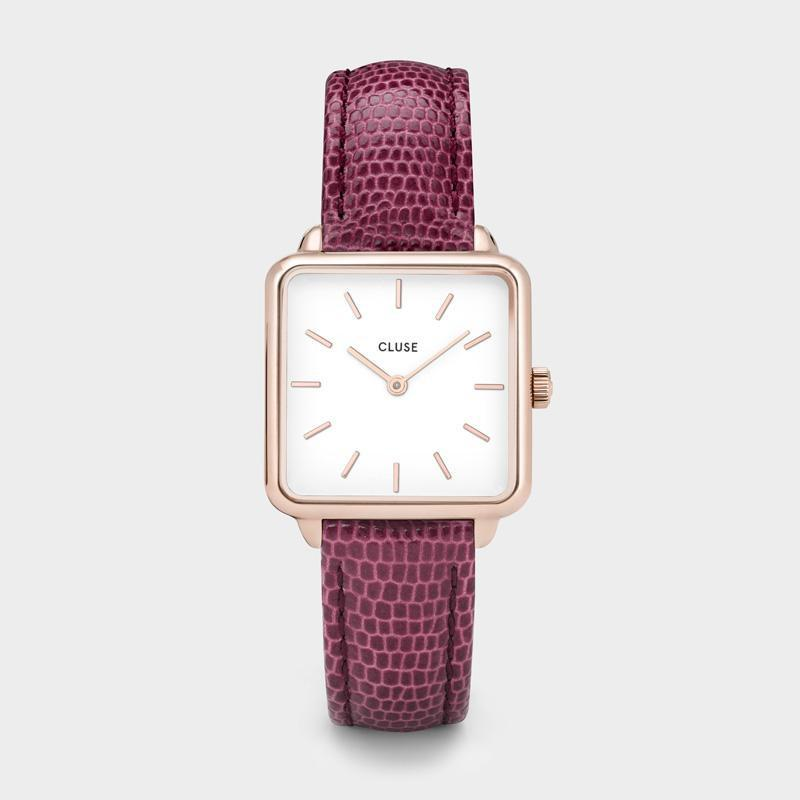 La Tétragone Rose Gold/Cerize Lizard CL60021 - Watch