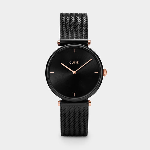 Image: CLUSE Triomphe Mesh Black/Black CL61004 - watch