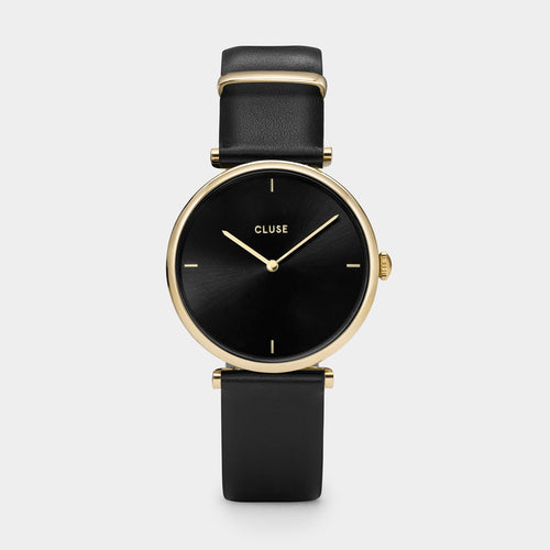 Image: CLUSE Triomphe Gold Black/Black CL61006 - watch
