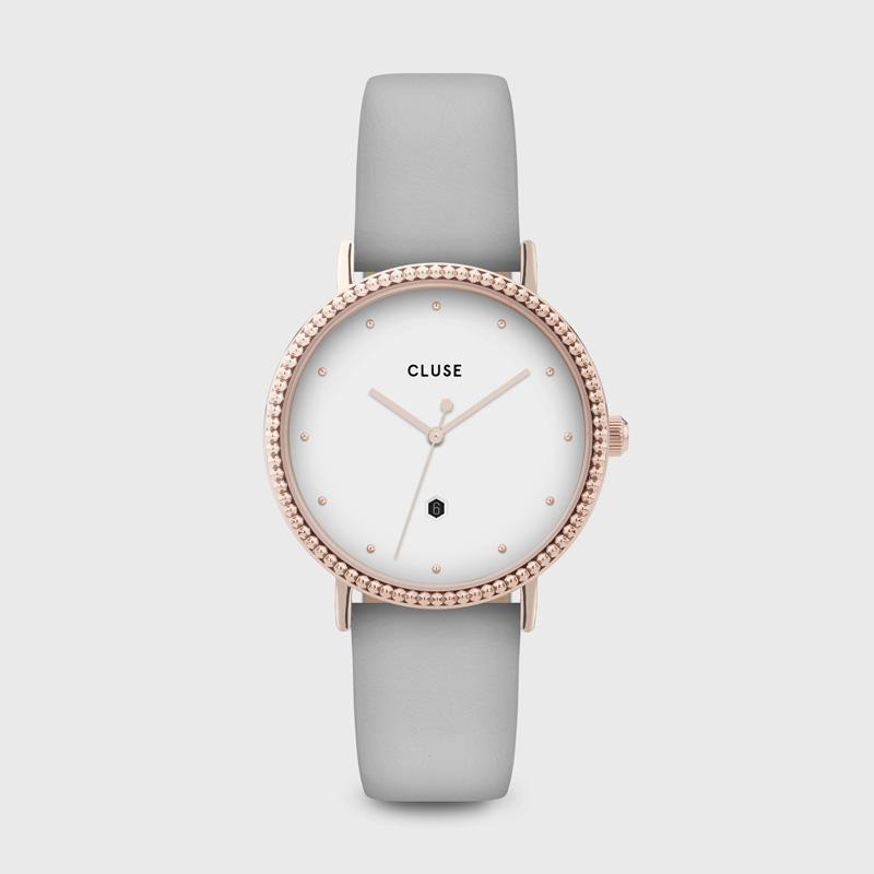 CLUSE Le Couronnement Rose Gold White/Soft Grey CL63001 - Watch