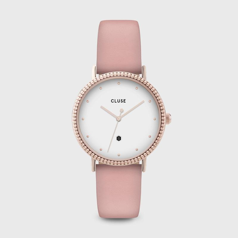 CLUSE Le Couronnement Rose Gold White/Soft Rose CL63002 - Watch