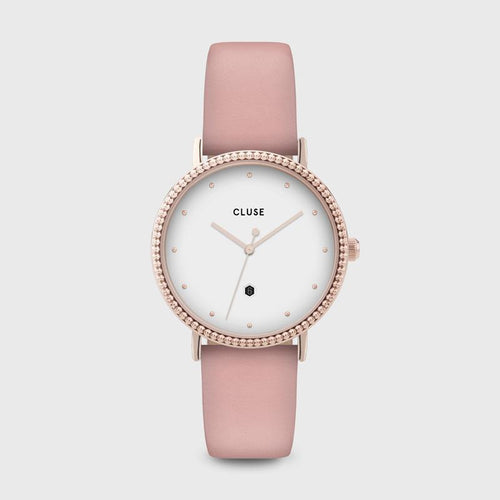 Image: CLUSE Le Couronnement Rose Gold White/Soft Rose CL63002 - Watch