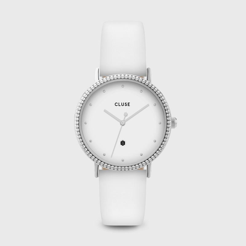CLUSE Le Couronnement Silver White/White CL63003 - Watch