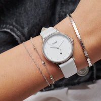 CLUSE Essentielle Silver Set of ​Two ​twisted and Hexagon Chain Bracelets CLJ12019 - Bracelets on wrist