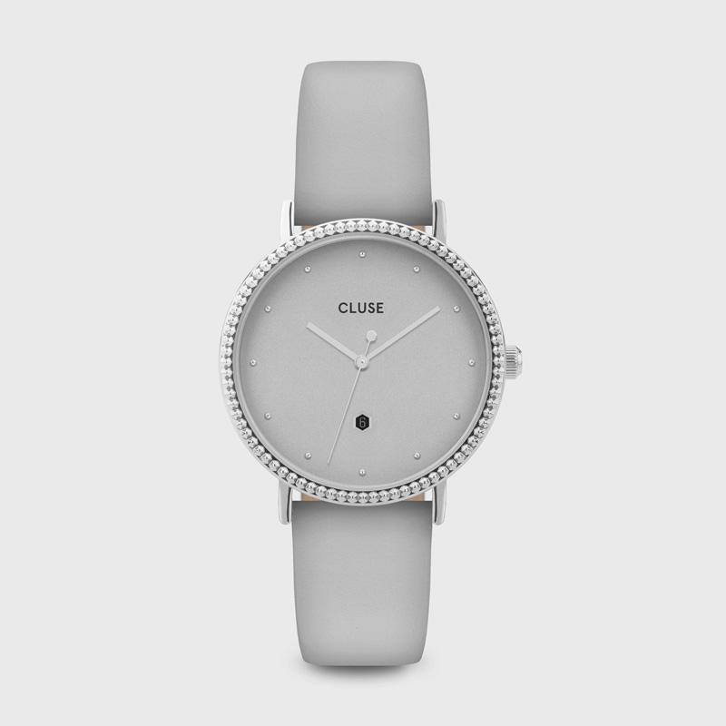 CLUSE Le Couronnement Silver/Soft Grey CL63004 - Watch