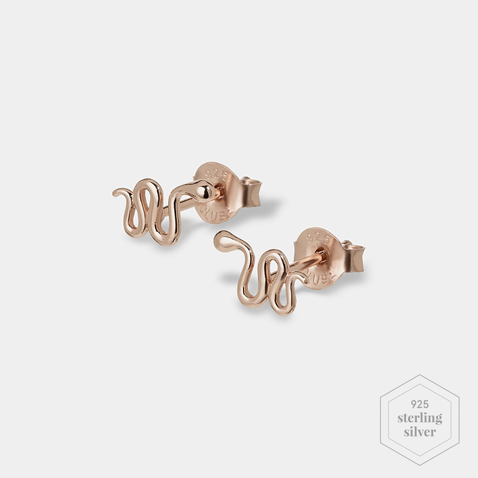 CLUSE Force Tropicale Rose Gold Snake Stud Earrings CLJ50020 - Earrings