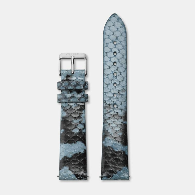 CLUSE 18 mm Strap Blue Python/Silver CLS084 - Strap