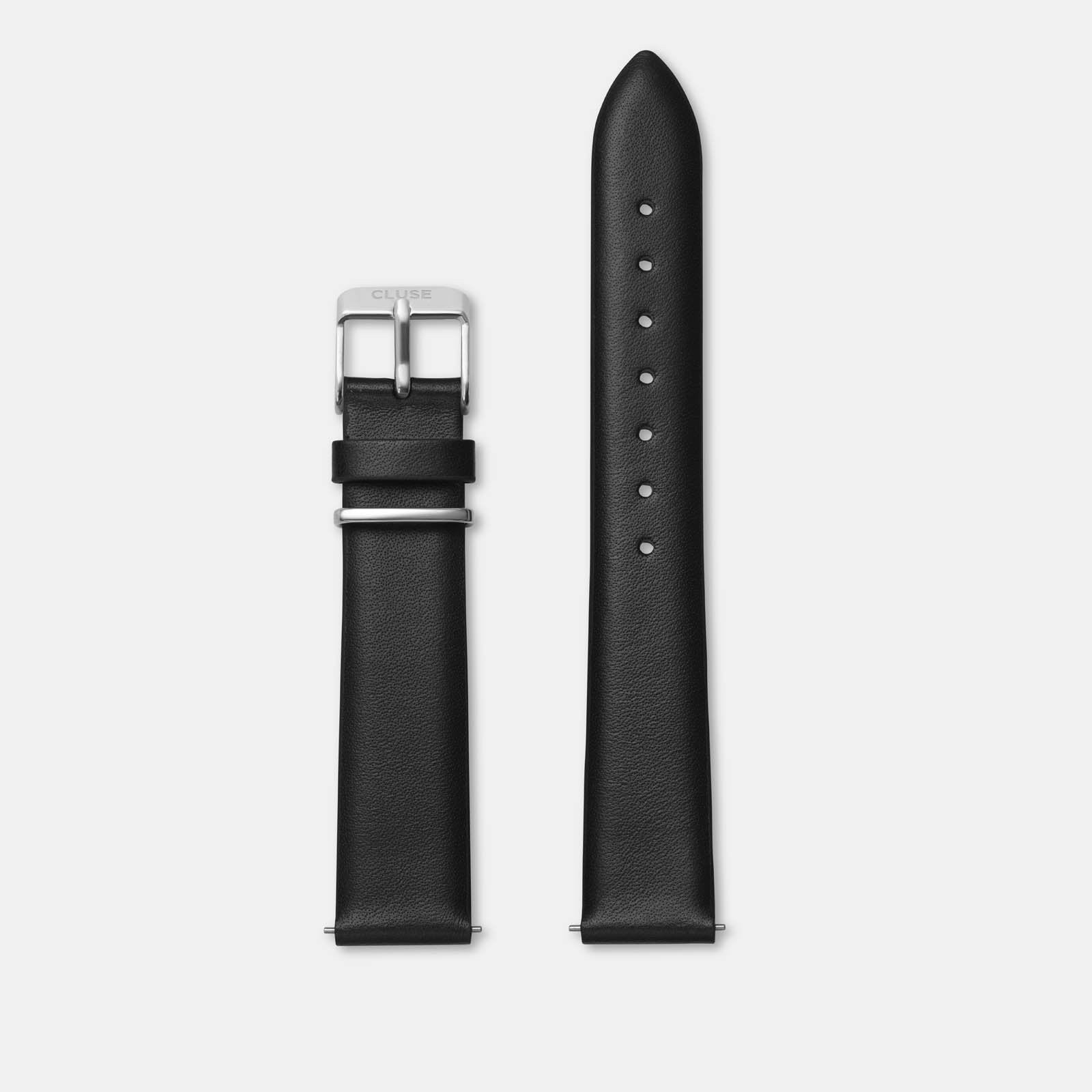 CLUSE 16 mm Strap Black/Silver CLS601 - strap