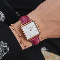 La Tétragone Rose Gold/Cerize Lizard CL60021 - Watch on wrist