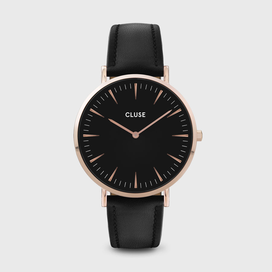 CLUSE La Bohème Leather Rose Gold Black/Black CW0101201011 - Watch
