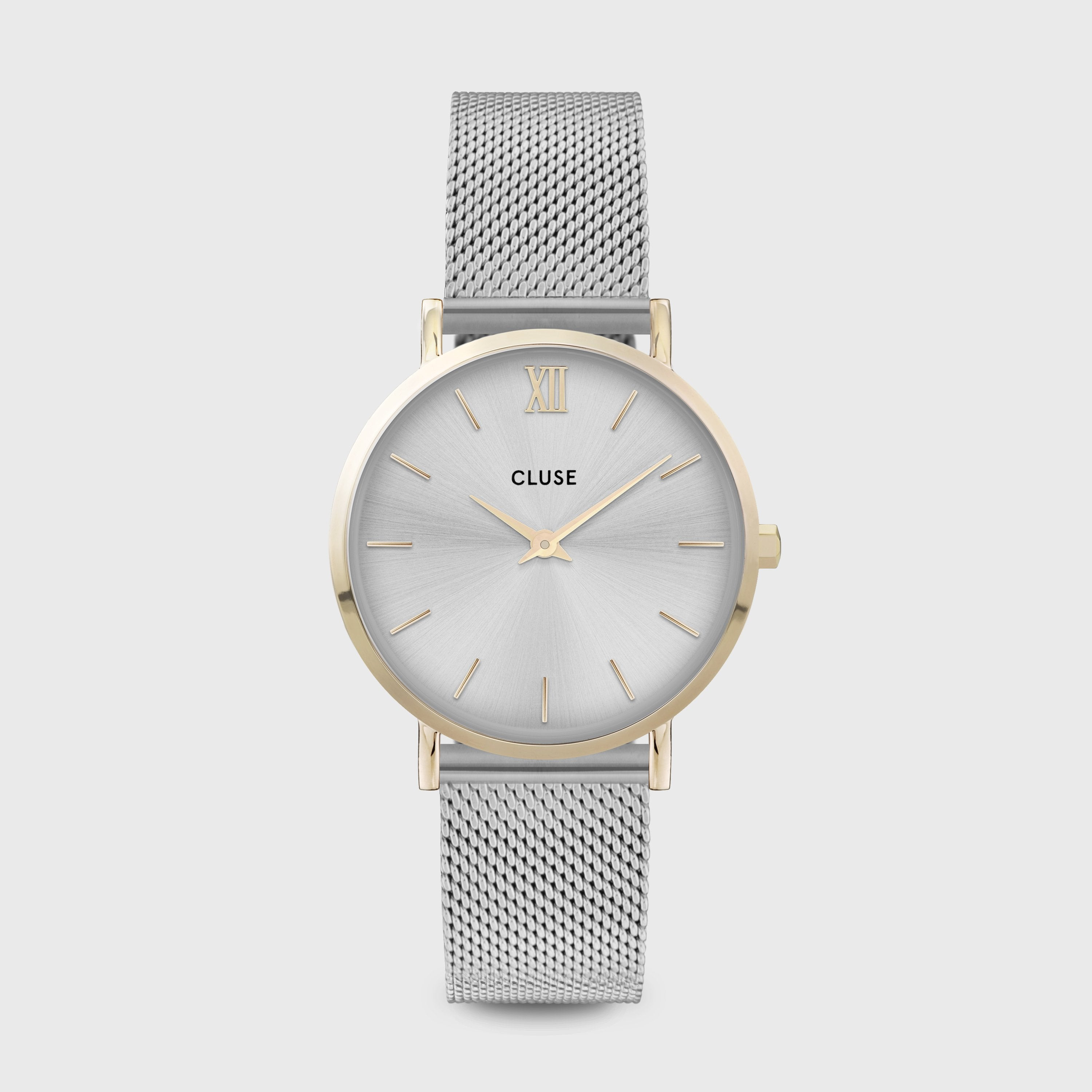 CLUSE Minuit Mesh Gold Silver/Silver CW0101203015 - Watch
