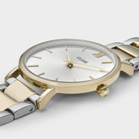 CLUSE Minuit 3-Link Gold Silver/Gold/Silver - Watch case detail
