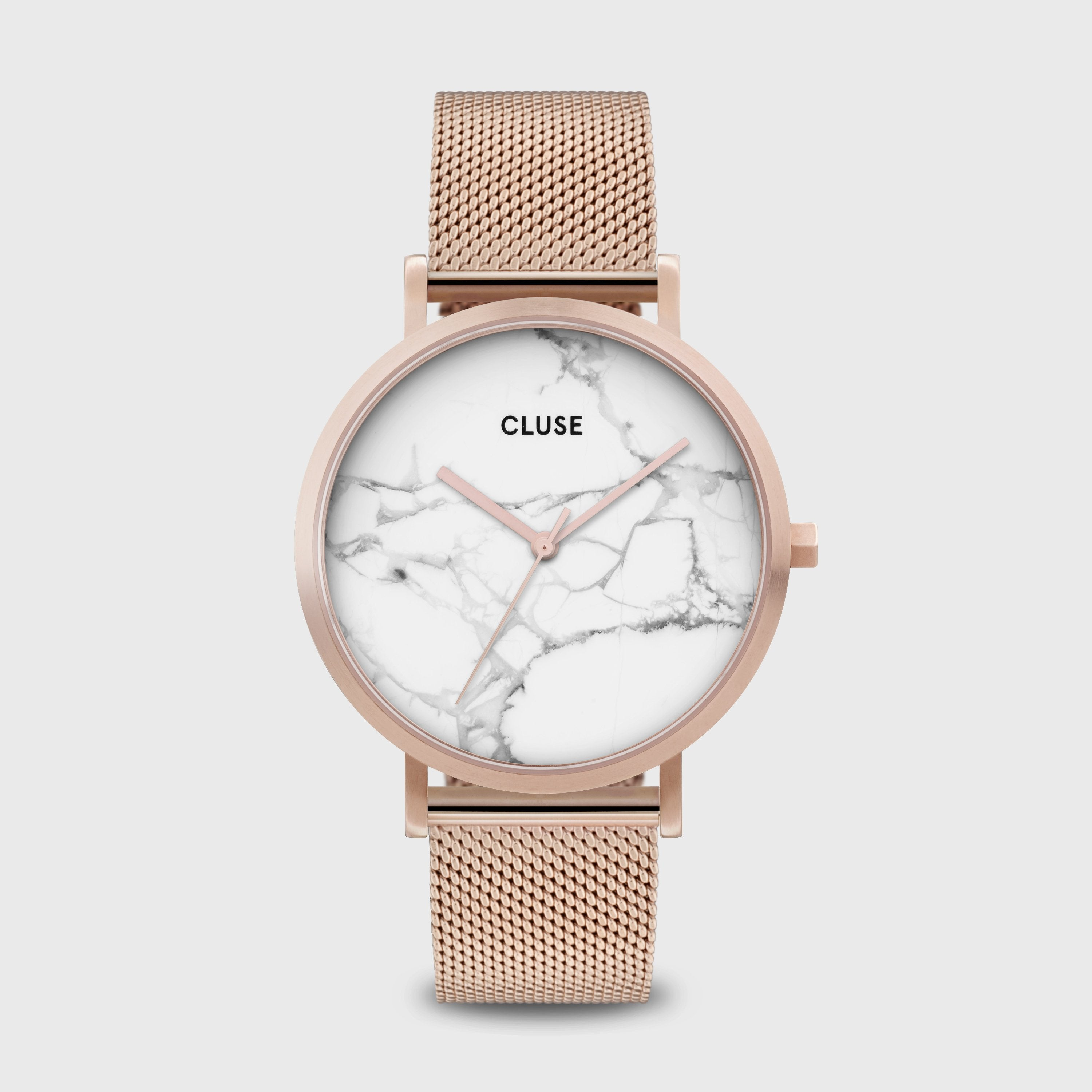 CLUSE La Roche Mesh Rose Gold White Marble/Rose Gold CW0101204001 - Watch