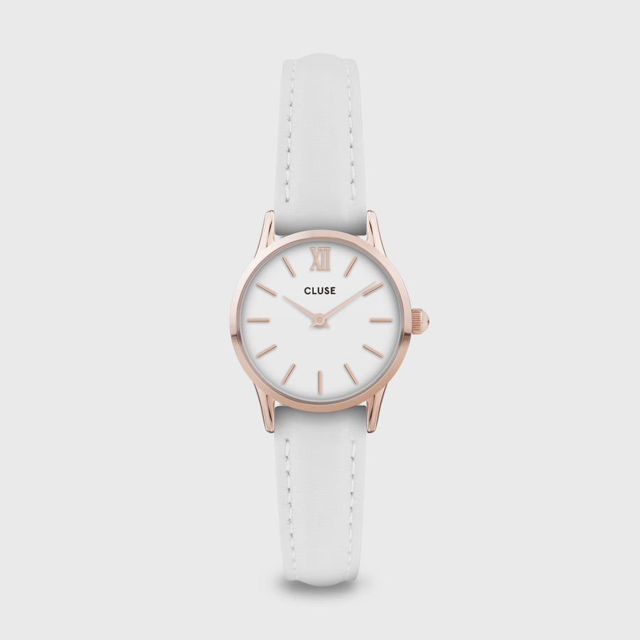 CLUSE La Vedette Leather Rose Gold White/White CW0101206005 - Watch