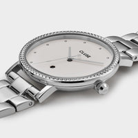 CLUSE Le Couronnement 3-Link Silver Winter white/Silver - Watch case detail