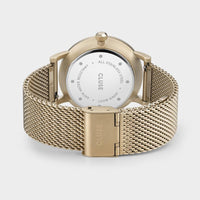 CLUSE Aravis mesh gold green/gold CW0101501006 - Watch clasp and back