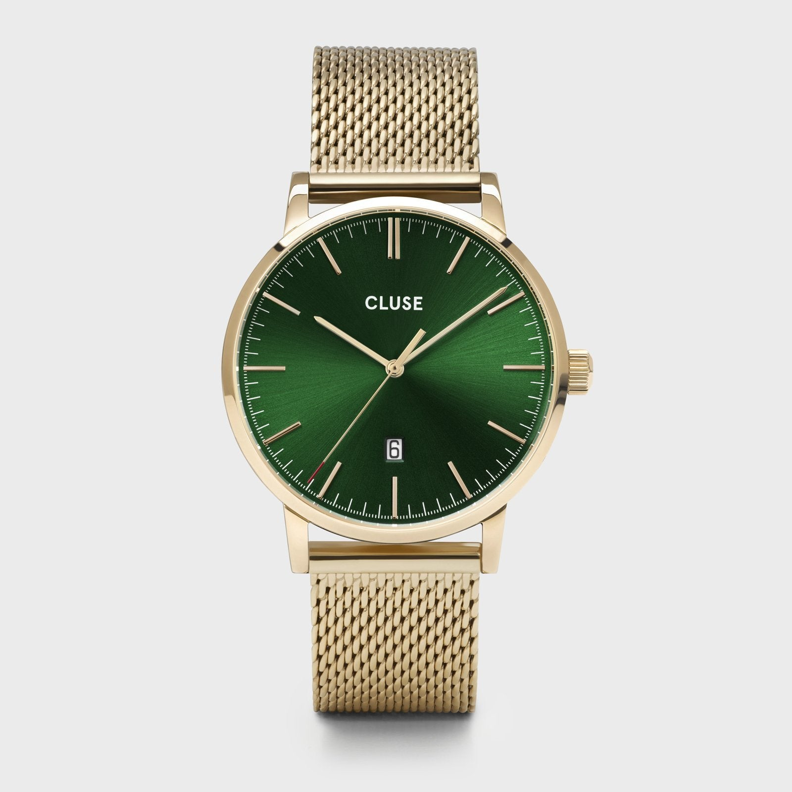 CLUSE Aravis mesh gold green/gold CW0101501006 - Watch
