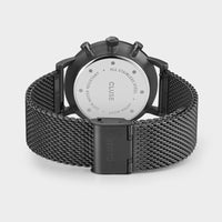 CLUSE Aravis chrono mesh black, black/black CW0101502007 - Watch clasp and back