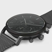 CLUSE Aravis chrono mesh black, black/black CW0101502007 - Watch case detail