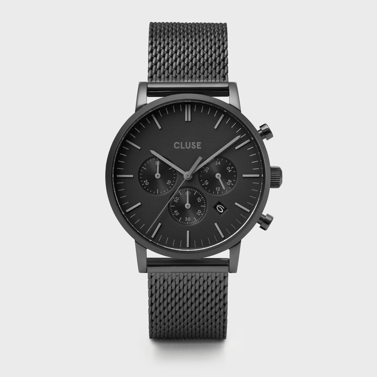 CLUSE Aravis chrono mesh black, black/black CW0101502007 - Watch
