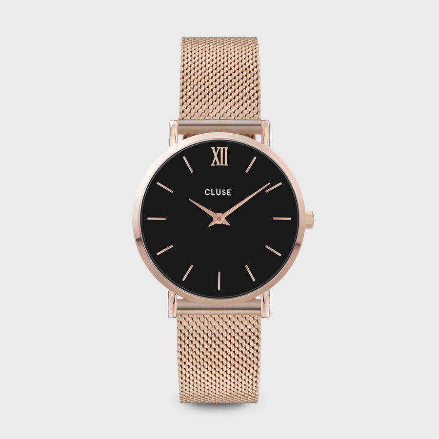 CLUSE Minuit Mesh Rose Gold Black/Rose gold CW0101203003 - Watch