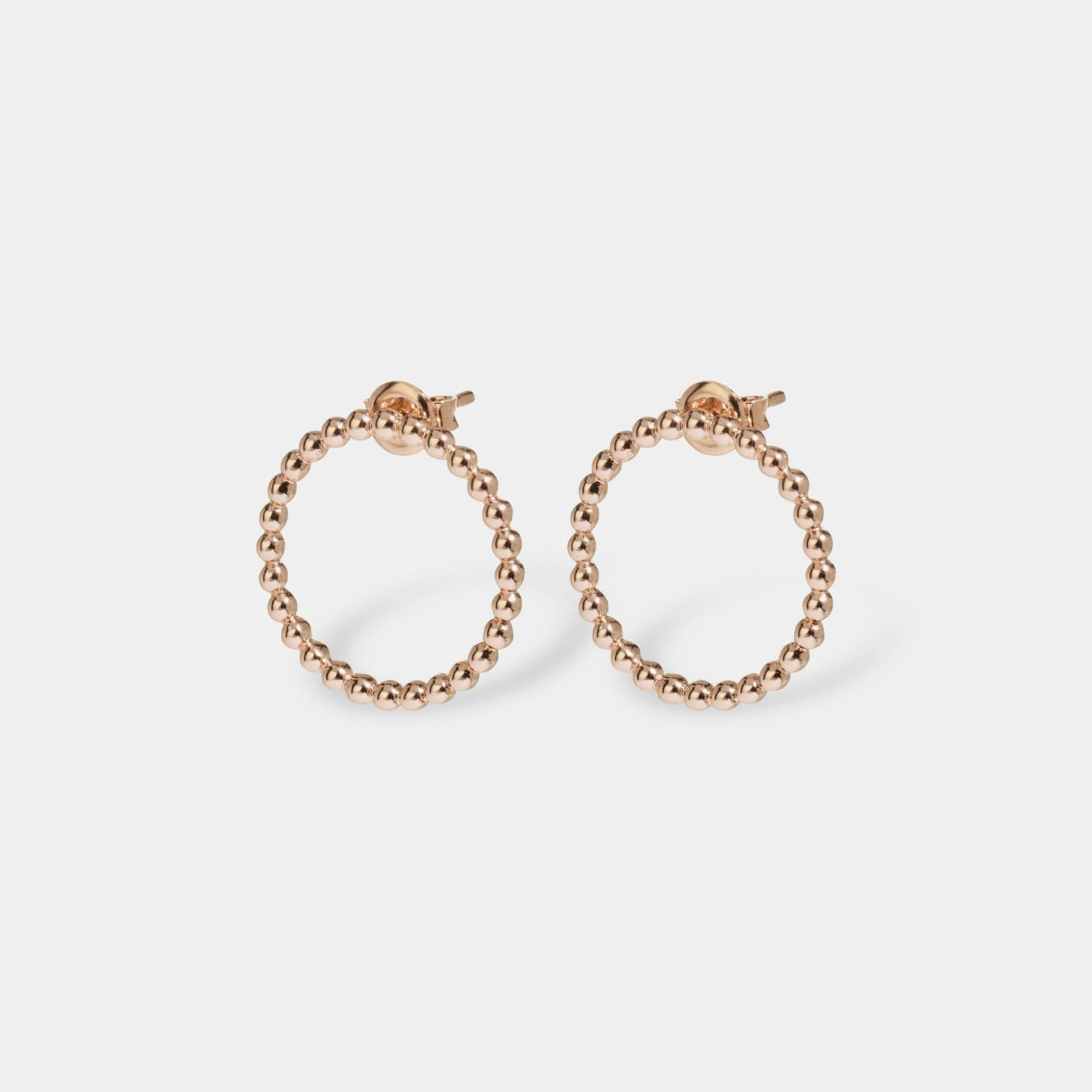 CLUSE Essentielle Rose Gold Open Circle Embellished Stud Earrings CLJ50007 - earrings