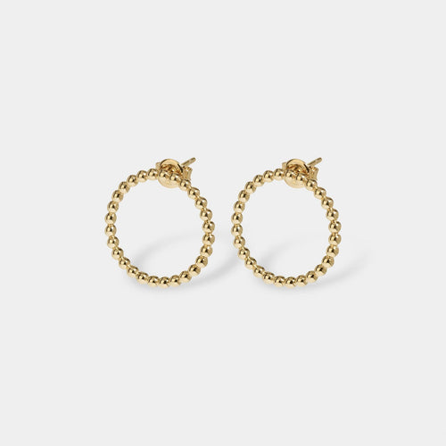 Image: CLUSE Essentielle Gold Open Circle Embellished Stud Earrings CLJ51007 - earrings
