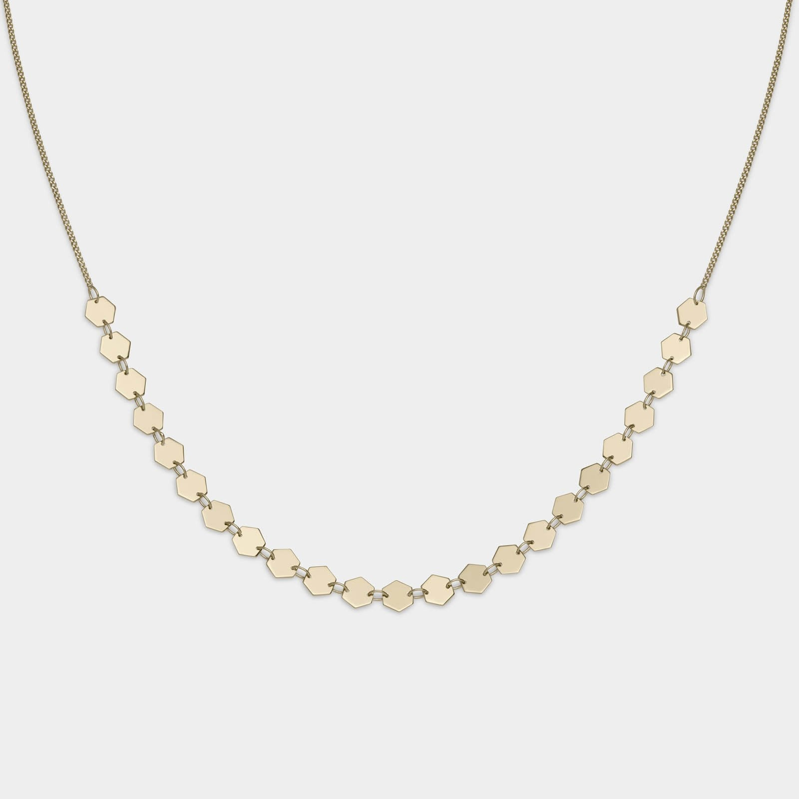 CLUSE Essentielle Gold All Hexagons Choker Necklace CLJ21003 - necklace