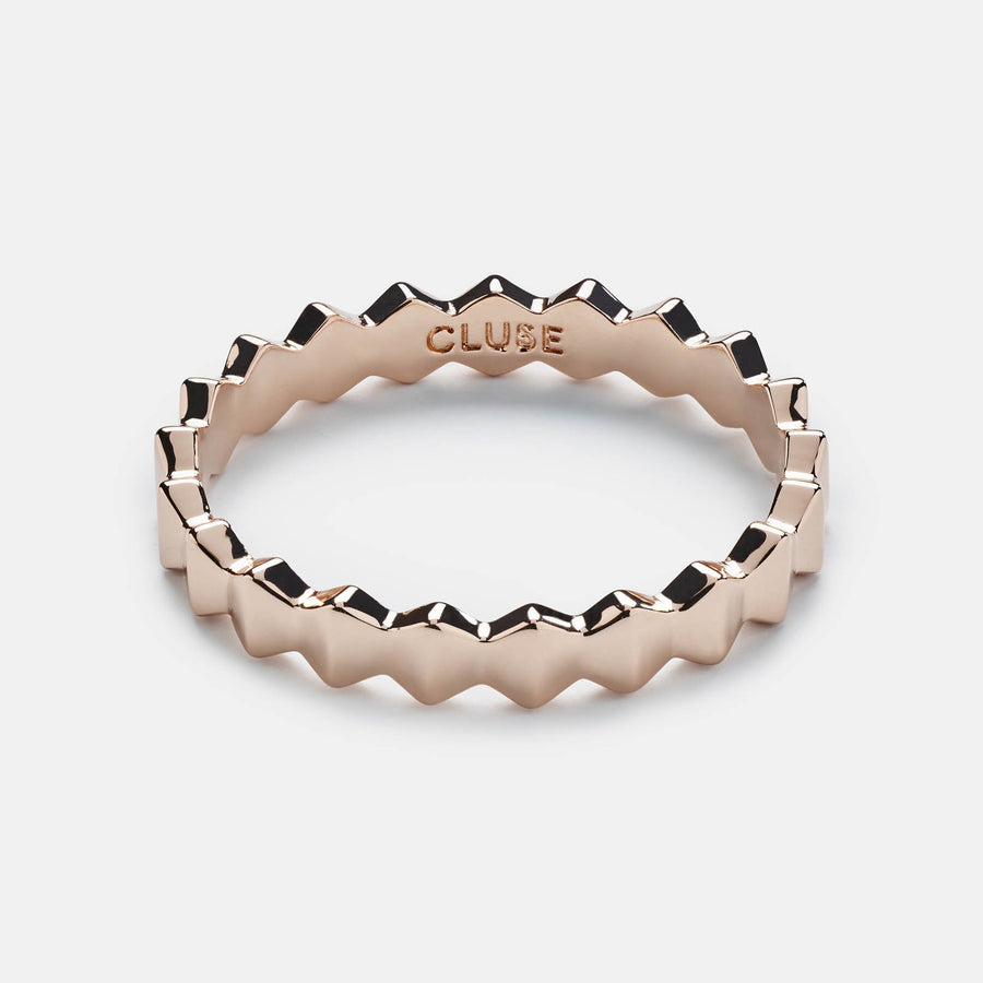 CLUSE Essentielle Rose Gold All Hexagons Ring CLJ40006-52 - ring size 52