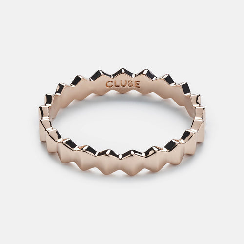Image: CLUSE Essentielle Rose Gold All Hexagons Ring CLJ40006-54 - ring size 54