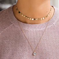 Essentielle Gold All Hexagons Choker Necklace