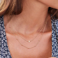 Essentielle Gold Set of Two Necklaces with Petite Hexagon
