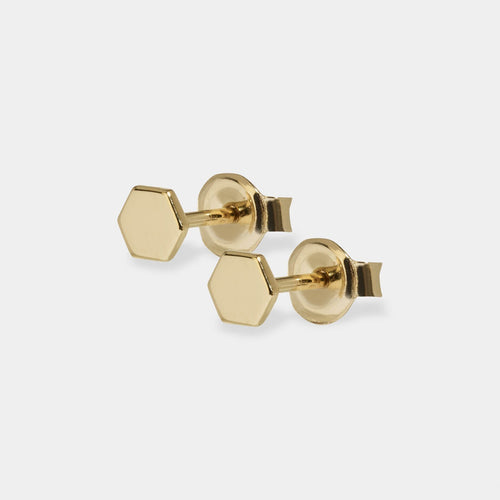Image: CLUSE Essentielle Gold Hexagon Stud Earrings CLJ51006 - earrings