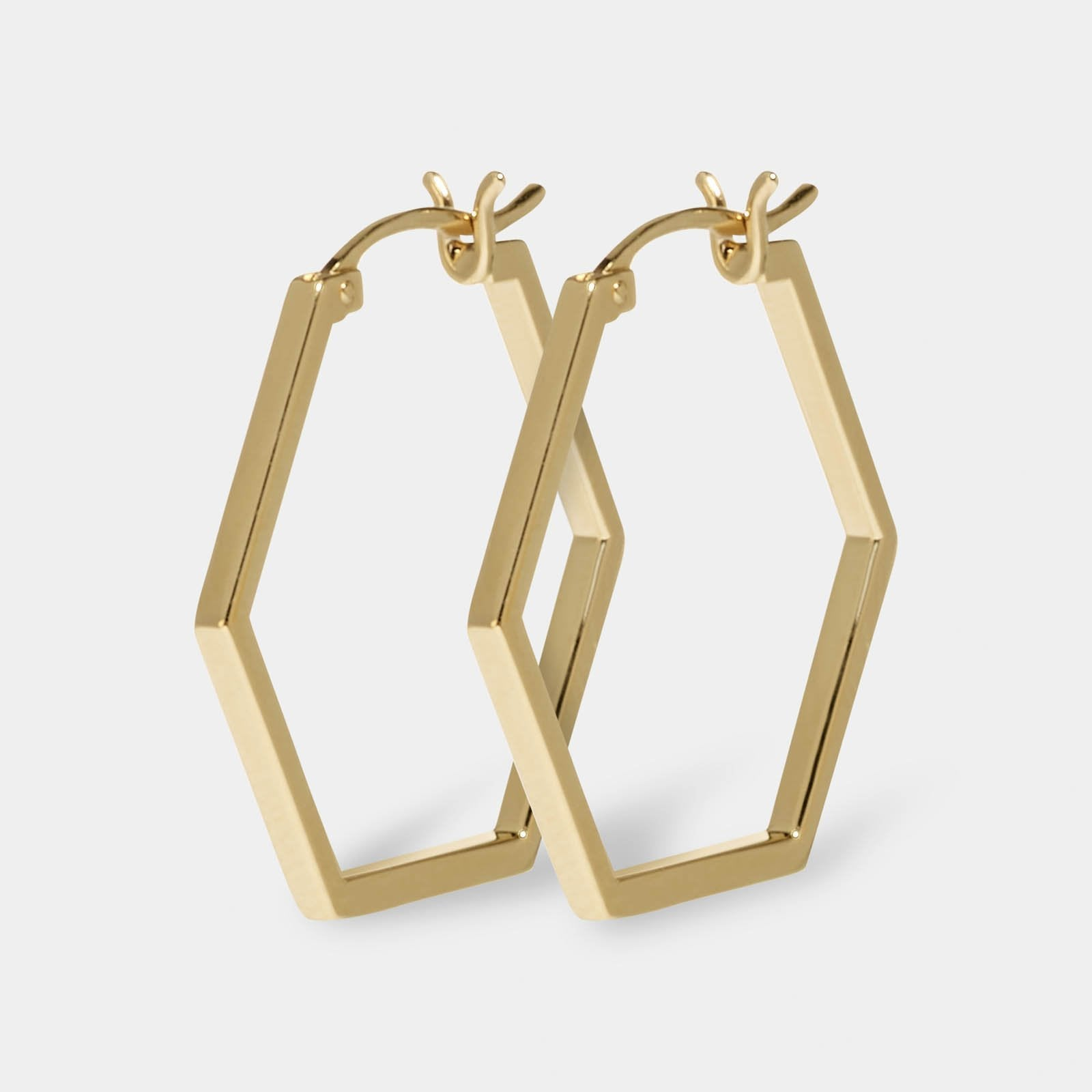 CLUSE Essentielle Gold Hexagonal Hoop Earrings CLJ51004 - earrings