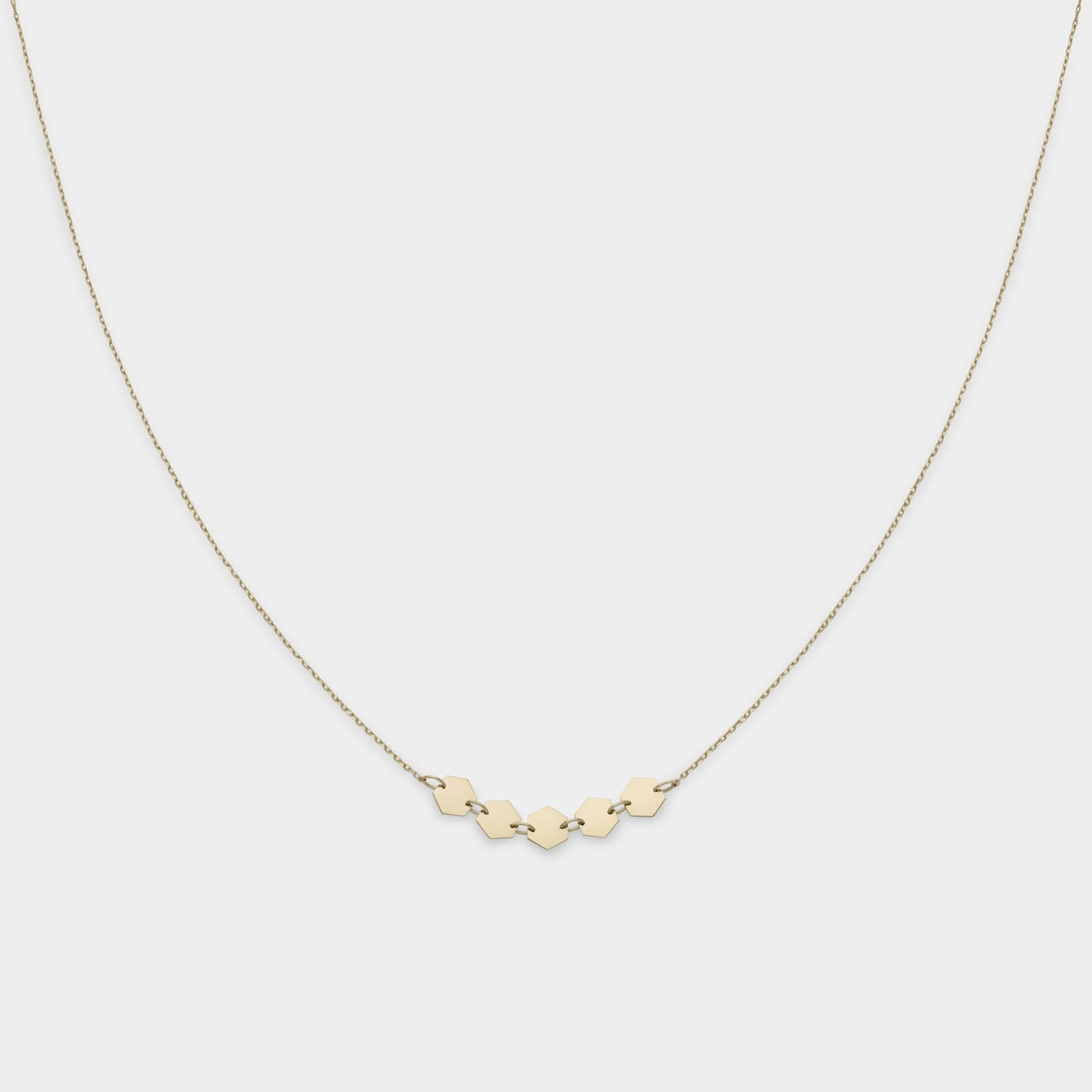 CLUSE Essentielle Gold Hexagons Necklace CLJ21001 - necklace
