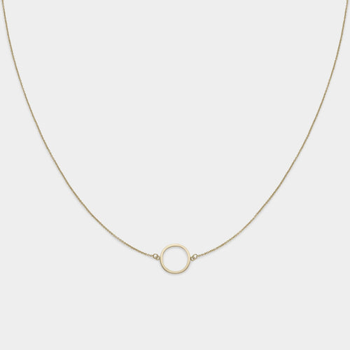 Image: CLUSE Essentielle Gold Open Circle Choker Necklace CLJ21002 - necklace