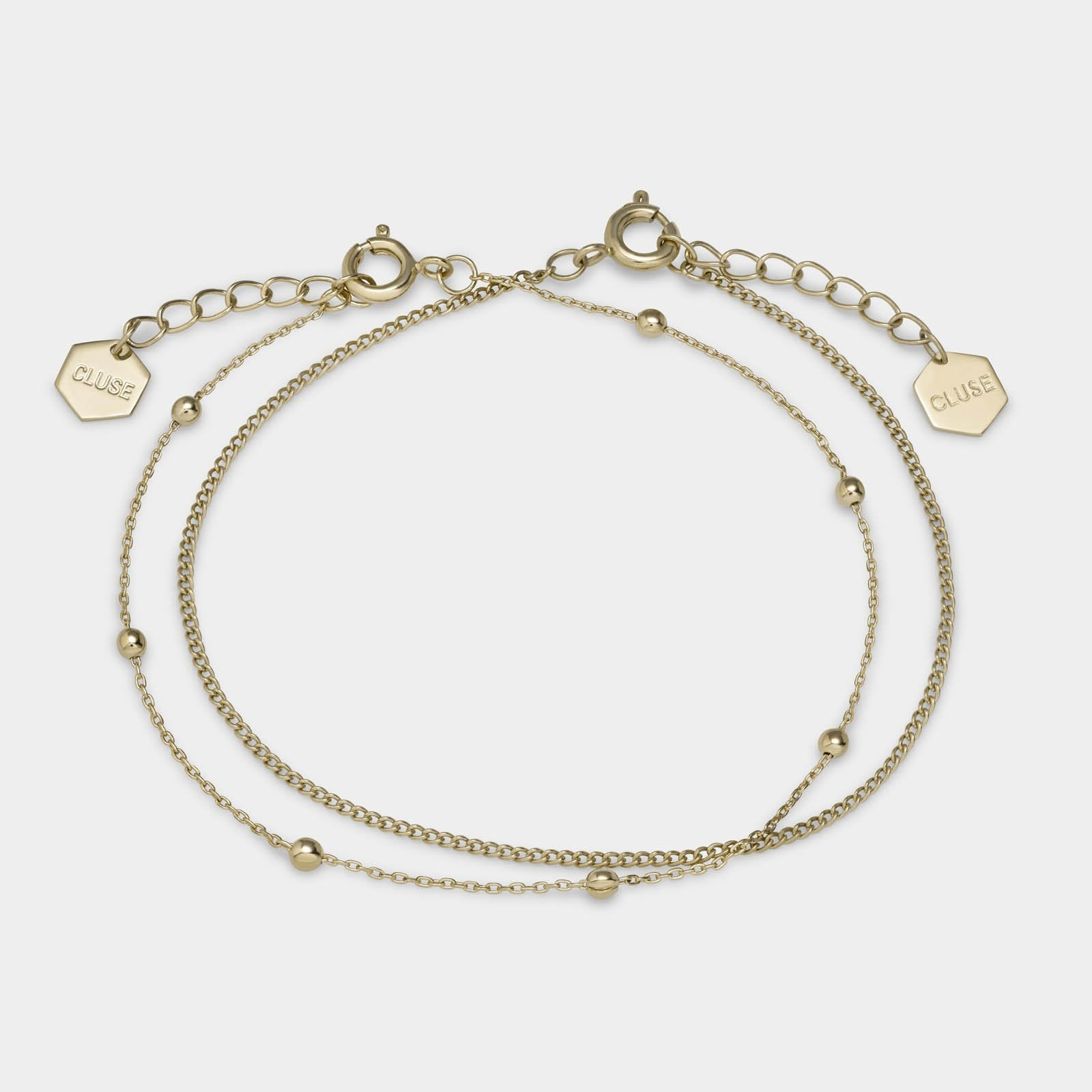 CLUSE Essentielle Gold Set of Two Fine Bracelets CLJ11010 - bracelets