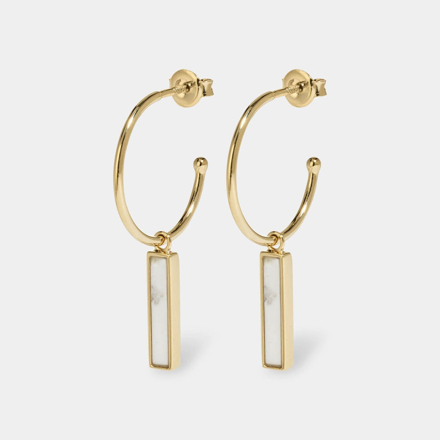 CLUSE Idylle Gold Marble Bar Hoop Earrings CLJ51001 - earrings