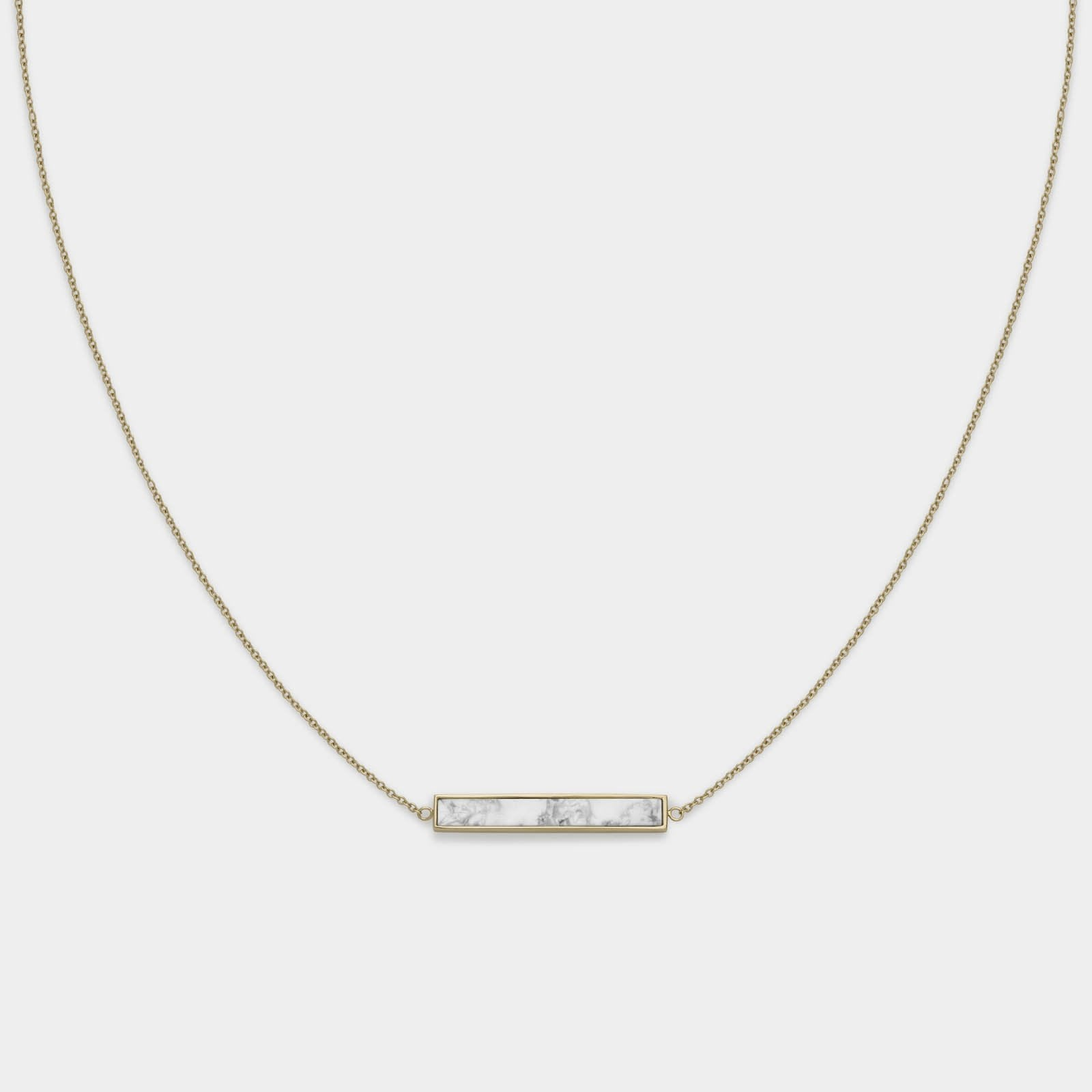 CLUSE Idylle Gold Marble Bar Necklace CLJ21009 - necklace