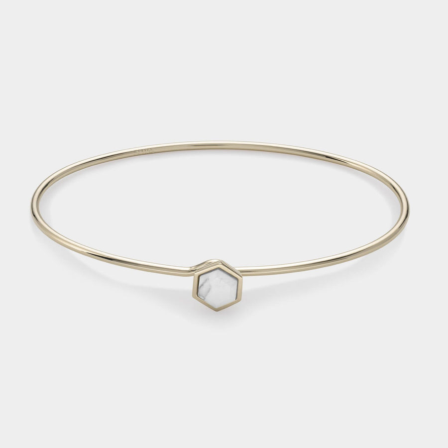 CLUSE Idylle Gold Marble Hexagon Bangle Bracelet CLJ11002 - bangle