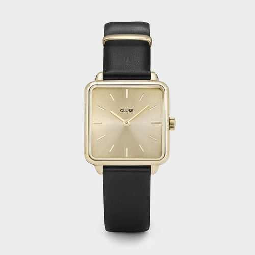 Image: CLUSE La Tétragone Gold Gold/Black CL60004 - watch