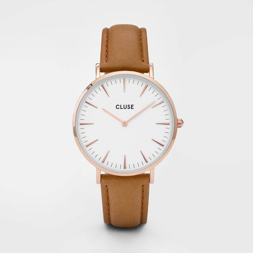 Image: CLUSE La Bohème Rose Gold White/Caramel CL18011 - watch