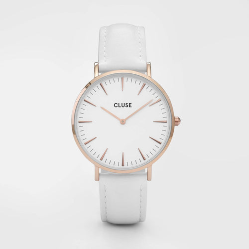 Image: CLUSE La Bohème Rose Gold White/White CL18042 - watch
