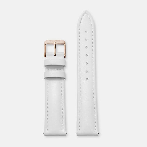 Image: CLUSE 18 mm Strap White/Rose Gold CLS077 - strap