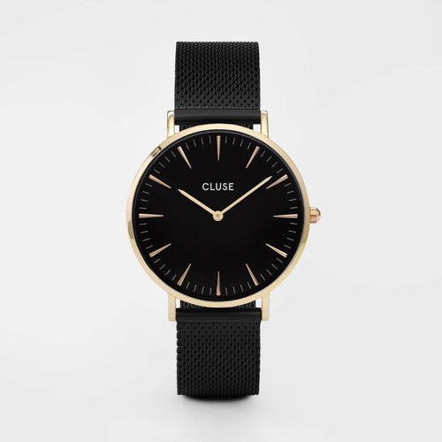 Image: CLUSE La Boheme Mesh Gold Black/Black CL18117 - watch