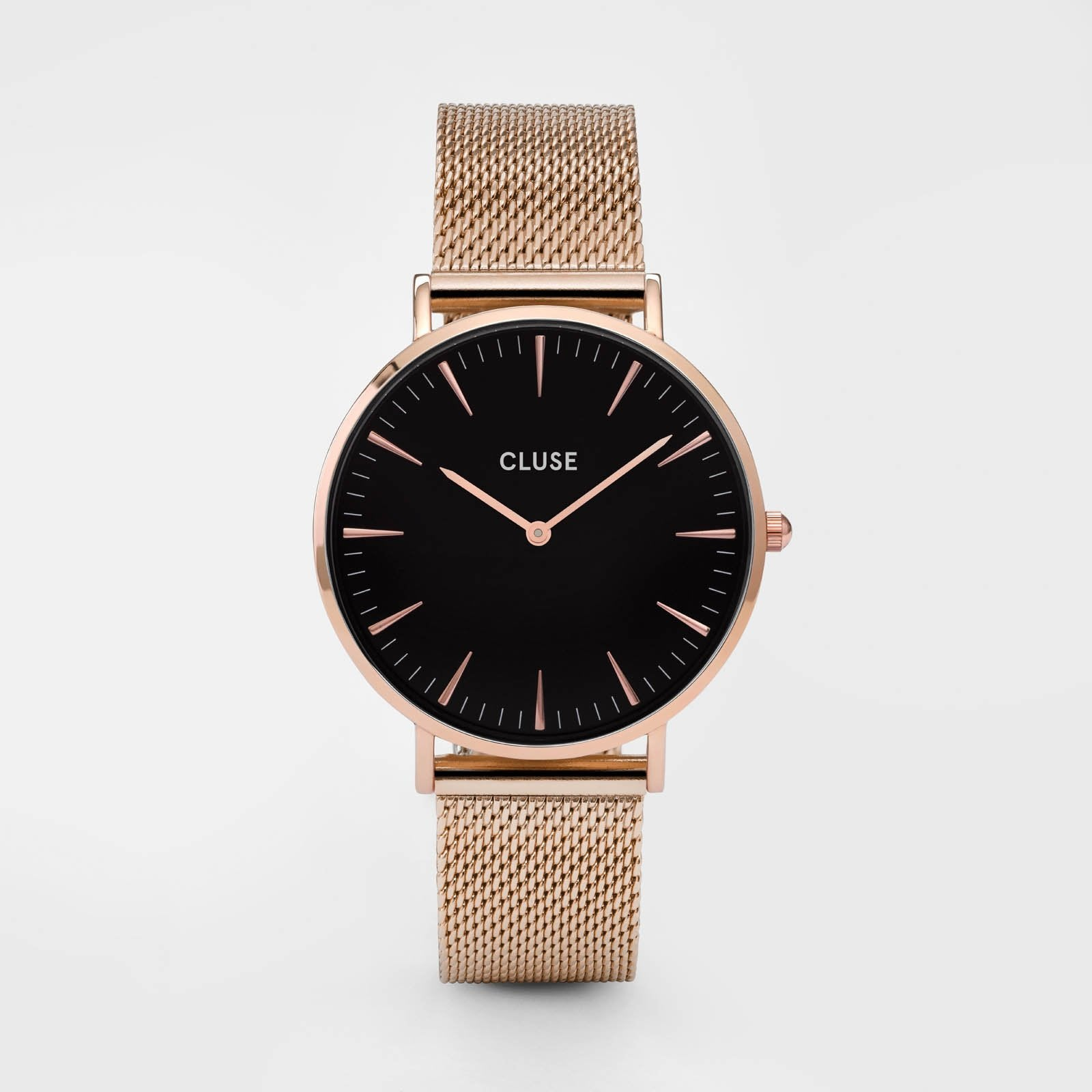 CLUSE La Bohème Mesh Rose Gold/Black CL18113 - watch