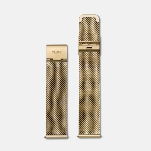 Image: CLUSE 18 mm Strap Mesh Gold CLS046 - strap