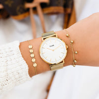 CLUSE 18 mm Strap Mesh Gold CLS046 - strap on wrist