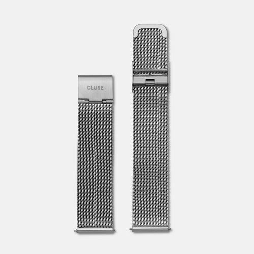 Image: CLUSE 18 mm Strap Mesh Silver CLS045 - strap
