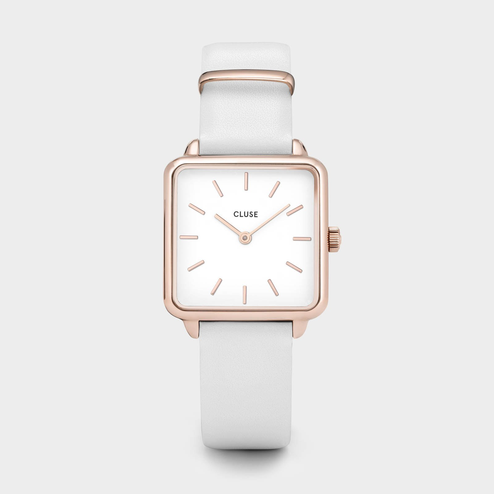 CLUSE La Tétragone Rose Gold White/White CL60006 - watch